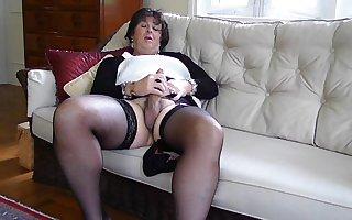 Carolyn Cums in Stockings