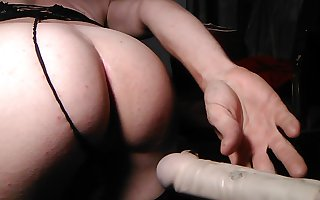Pounding my sissy hole with my dildo
