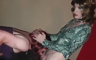 Two Crossdressers and BBC Lucy gets BBC Tgurl spitroast