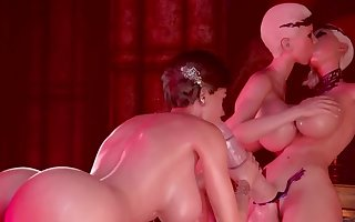 HOTTEST NEW 2018 THREESOME FUTANARI SEX PARTY, #1