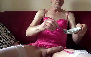 Jerking off and eating my cum
