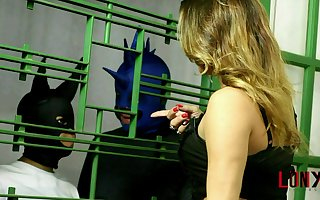 Adriana Rodrigues dominates guy girlfriend's mouth in Hunter's Test
