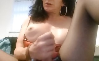 Hung MILF Bitch Jerks Off Massive Tool
